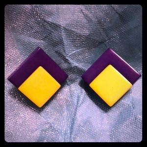 Jewelry - Vtg 80s New Wave Clip-on earrings